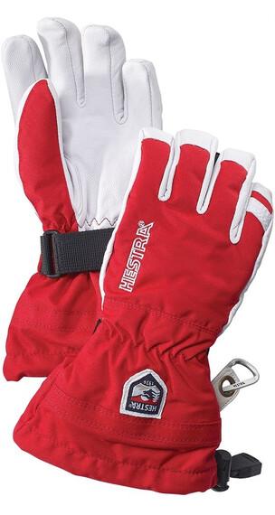 Hestra Army Leather Heli Ski Jr Glove Red (560)